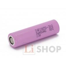 18650 SAMSUNG INR18650-30Q 3000мАч 3,6В 15A промышленный Li-Ion аккумулятор высокой мощности